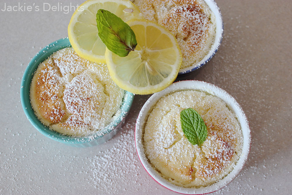 Lemon Pudding Cakes + Lighten Up Y'all Cookbook Review